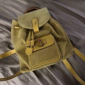 Gucci suede mini backpack bamboo